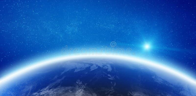 Облака от космоса иллюстрация вектора