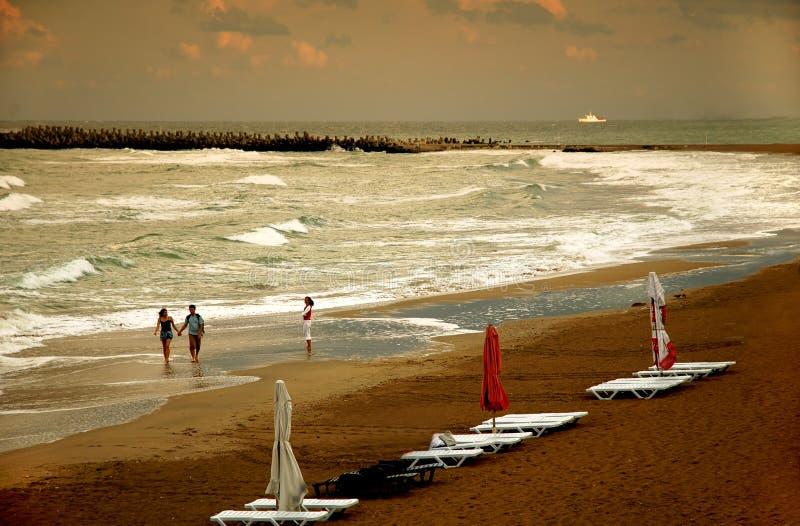 облака пляжа стоковое изображение rf