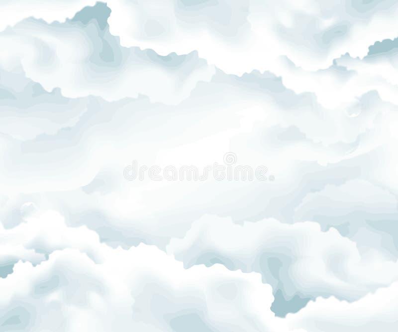 облака предпосылки иллюстрация штока