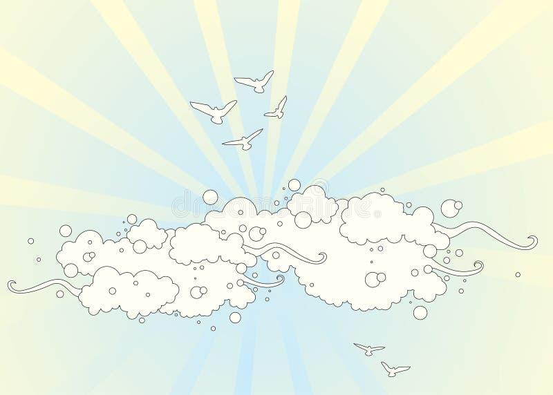 облака птиц бесплатная иллюстрация