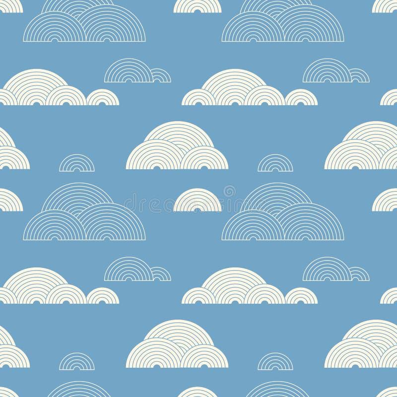Облака сделанные кругов иллюстрация штока