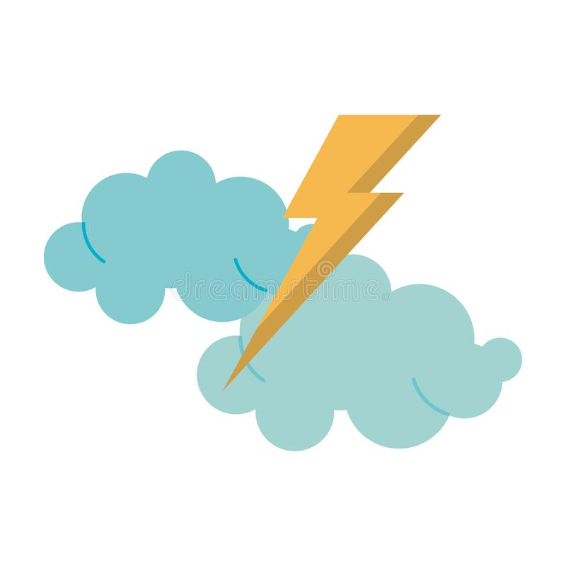 Облака с мультфильмом луча иллюстрация штока