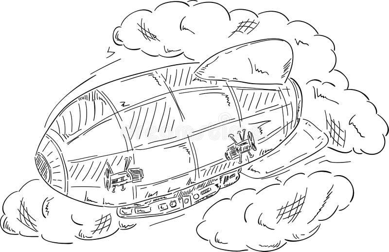 облака airship иллюстрация штока