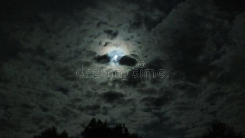 Облака n луны стоковые фотографии rf