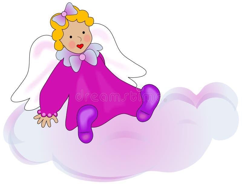 облако ангела иллюстрация вектора