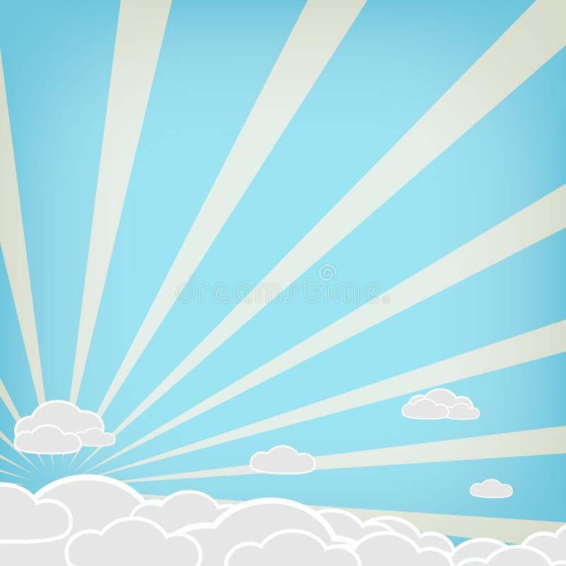 Облако вектора на голубой предпосылке стоковое фото rf