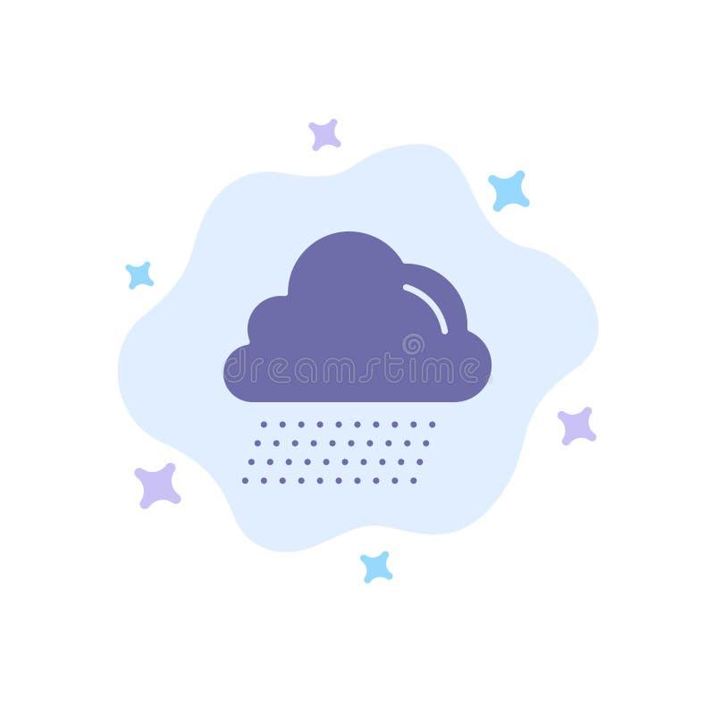 Облако, дождь, значок Канады голубой на абстрактной предпосылке облака иллюстрация вектора