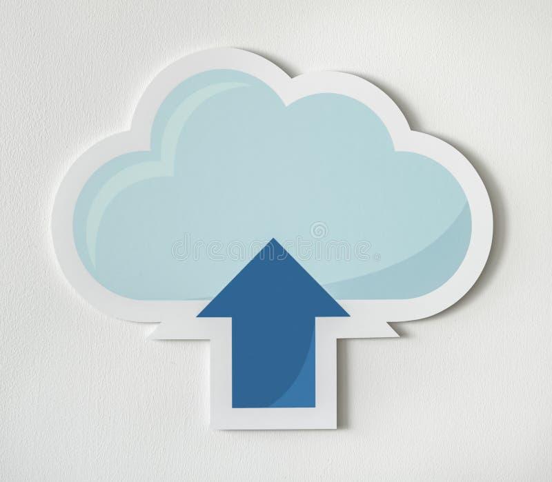 Облако загружая график технологии значка бесплатная иллюстрация