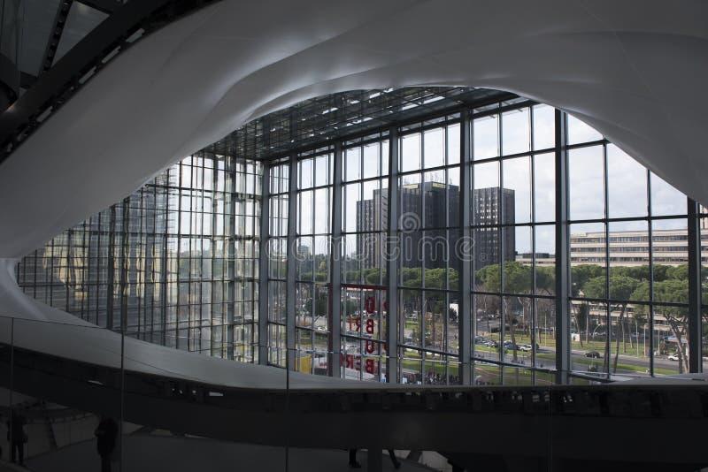 Облако, новый центр конгресса в Риме, Италии стоковые изображения