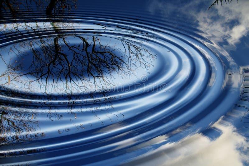 облако отражает вал иллюстрация вектора