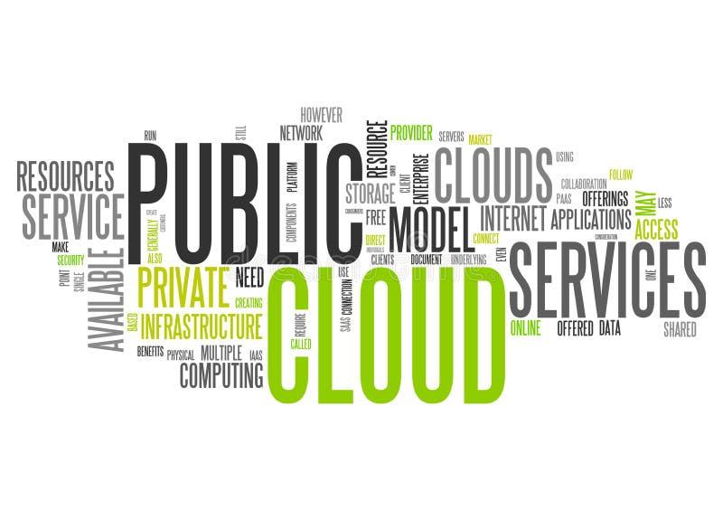 Облако публики облака слова иллюстрация штока