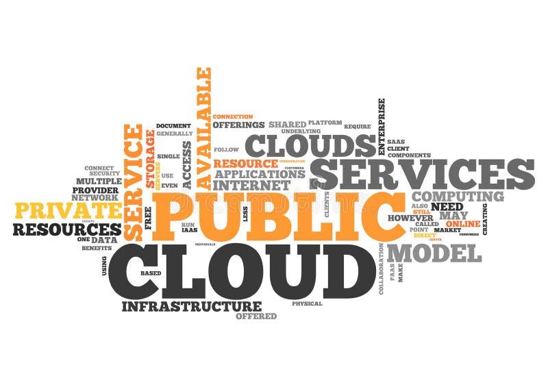 Облако публики облака слова бесплатная иллюстрация