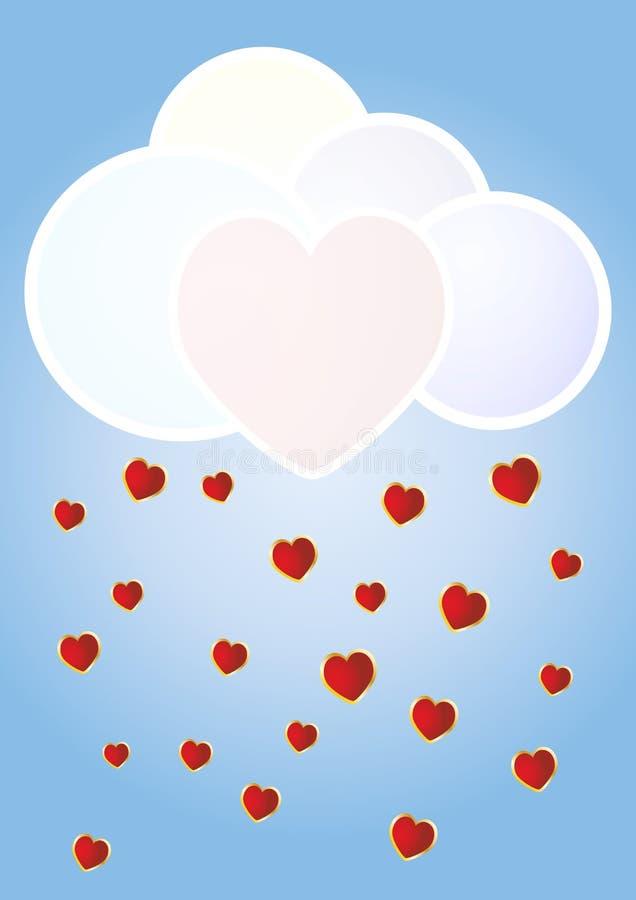 Облако сердец иллюстрация вектора