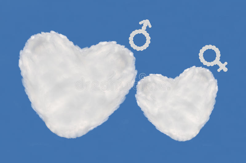 Облако сердца стоковое фото rf