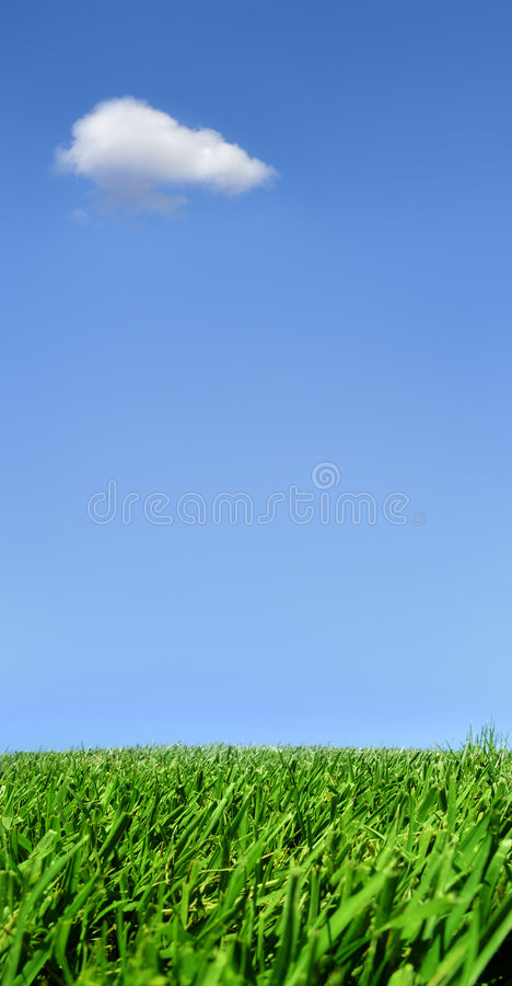 облако сиротливое стоковая фотография rf