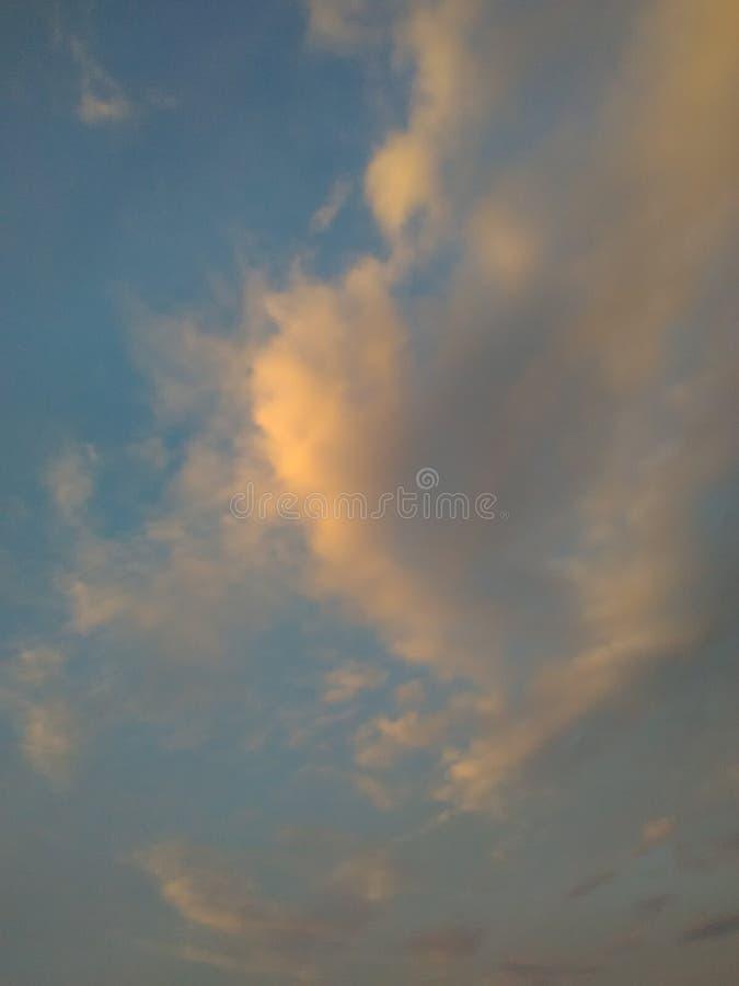 Облако славы света неба зарева стоковое изображение