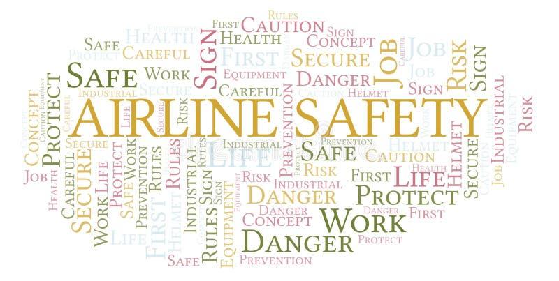 Облако слова безопасности авиакомпании иллюстрация штока