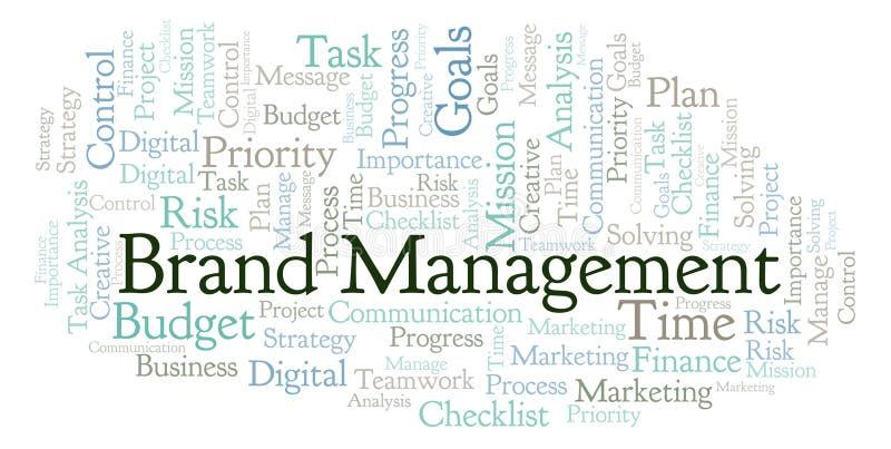 Облако слова бренд-менеджмента, сделанное с текстом только иллюстрация вектора