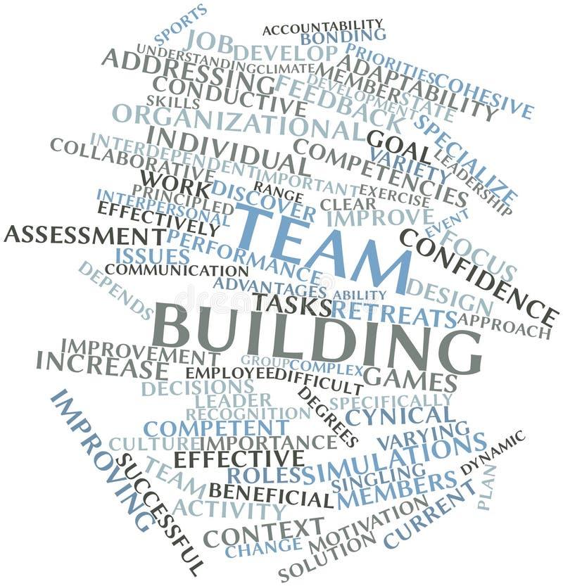 Облако слова для здания команды иллюстрация штока