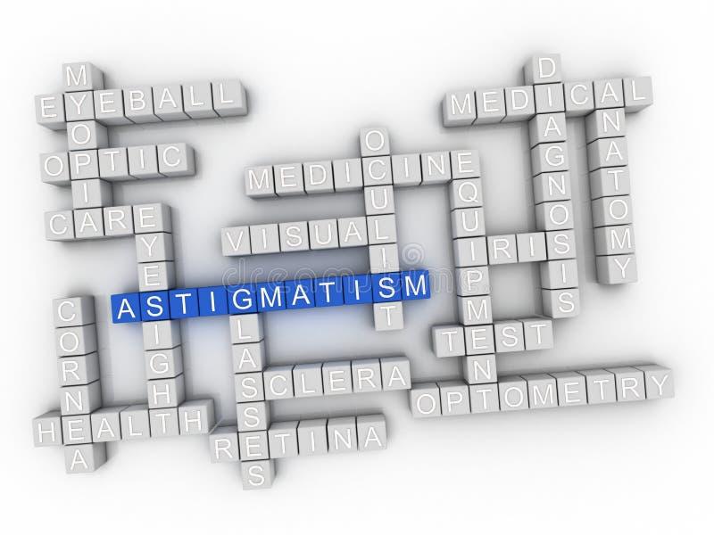 облако слова концепции астигматизма 3d иллюстрация штока