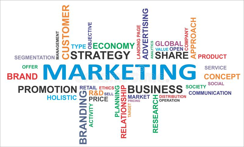 Облако слова - маркетинг бесплатная иллюстрация