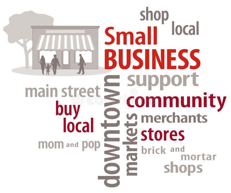 Облако слова мелкия бизнеса иллюстрация вектора