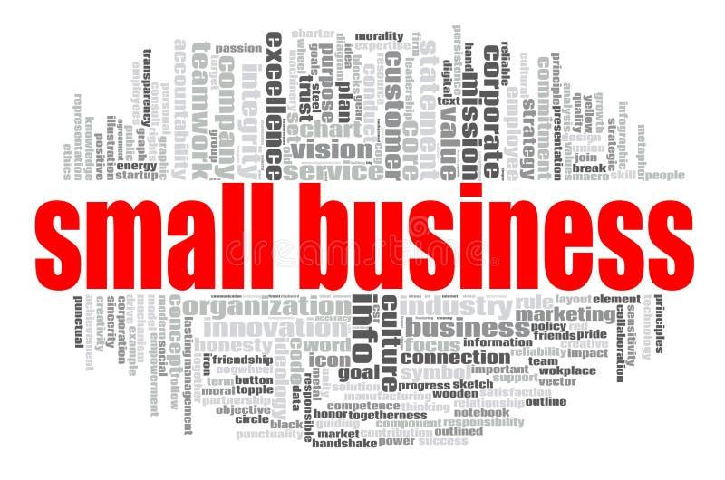 Облако слова мелкого бизнеса иллюстрация вектора