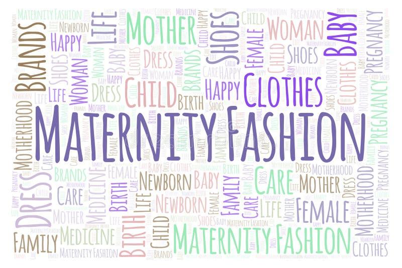 Облако слова моды материнства горизонтальное иллюстрация штока