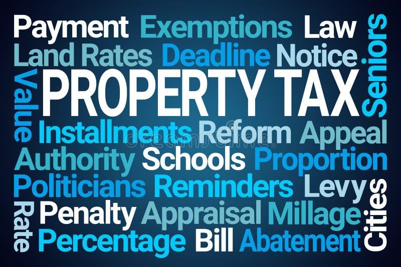 Облако слова налога на собственность бесплатная иллюстрация