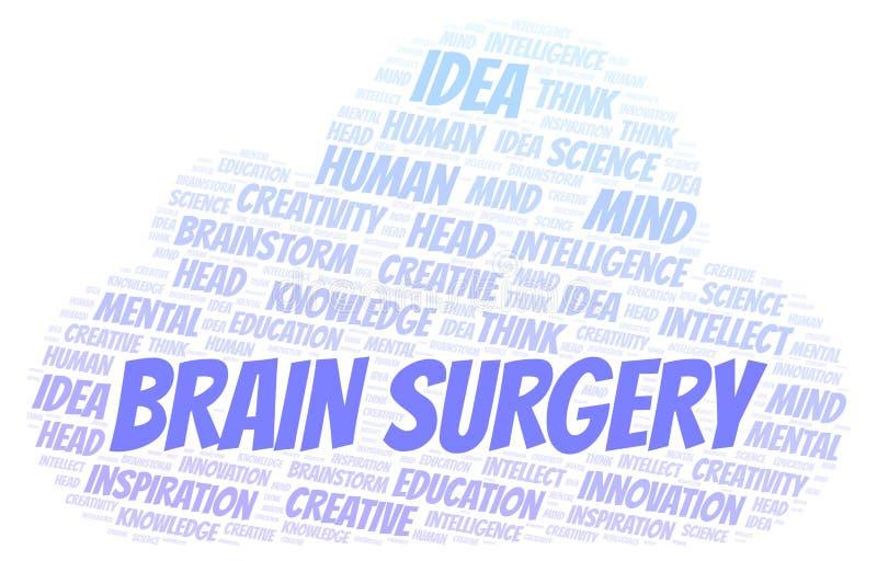 Облако слова операций на головном мозге иллюстрация штока