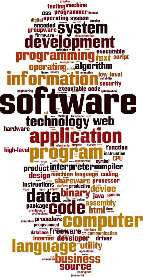 Облако слова программного обеспечения бесплатная иллюстрация