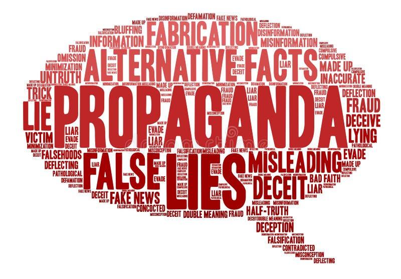 Облако слова пропаганды иллюстрация штока
