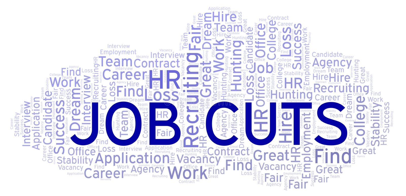 Облако слова сокращений рабочих мест иллюстрация вектора