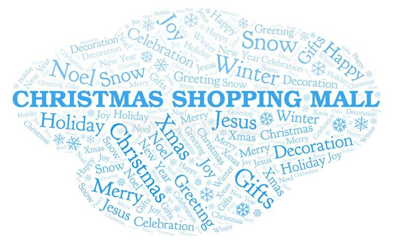 Облако слова торгового центра рождества иллюстрация вектора
