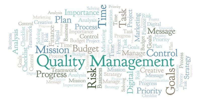 Облако слова управления качеством, сделанное с текстом только бесплатная иллюстрация