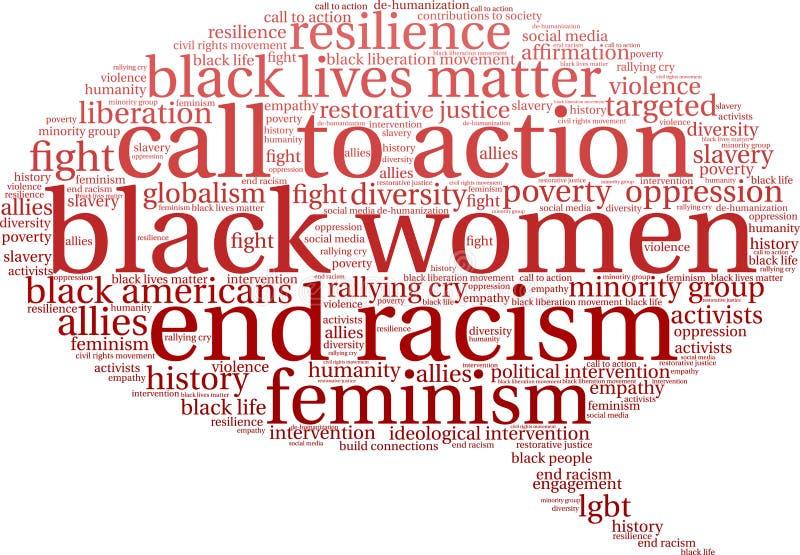 Облако слова чернокожих женщин бесплатная иллюстрация