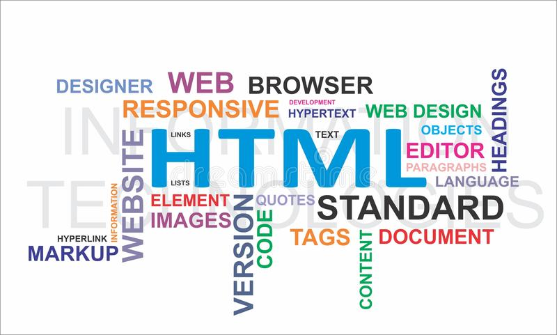 Облако слова - HTML бесплатная иллюстрация