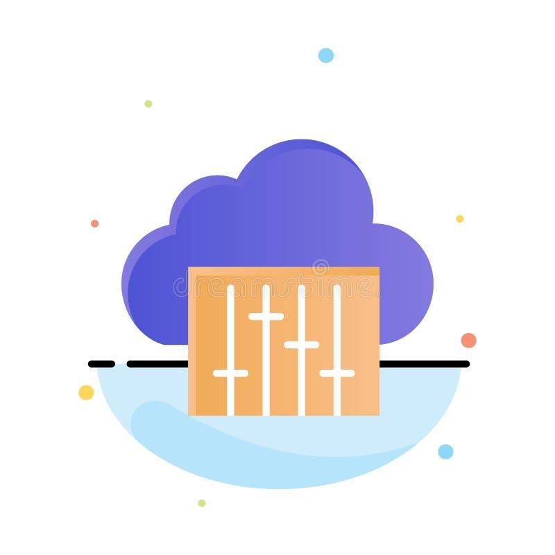 Облако, соединение, музыка, аудио абстрактный плоский шаблон значка цвета бесплатная иллюстрация