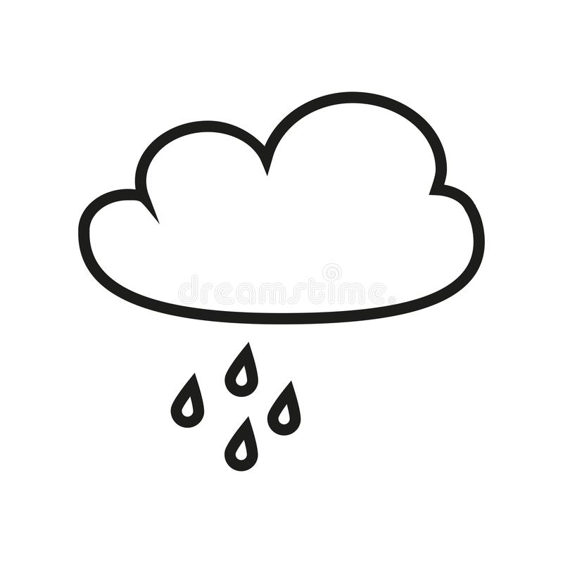 Облако с значком дождя иллюстрация вектора