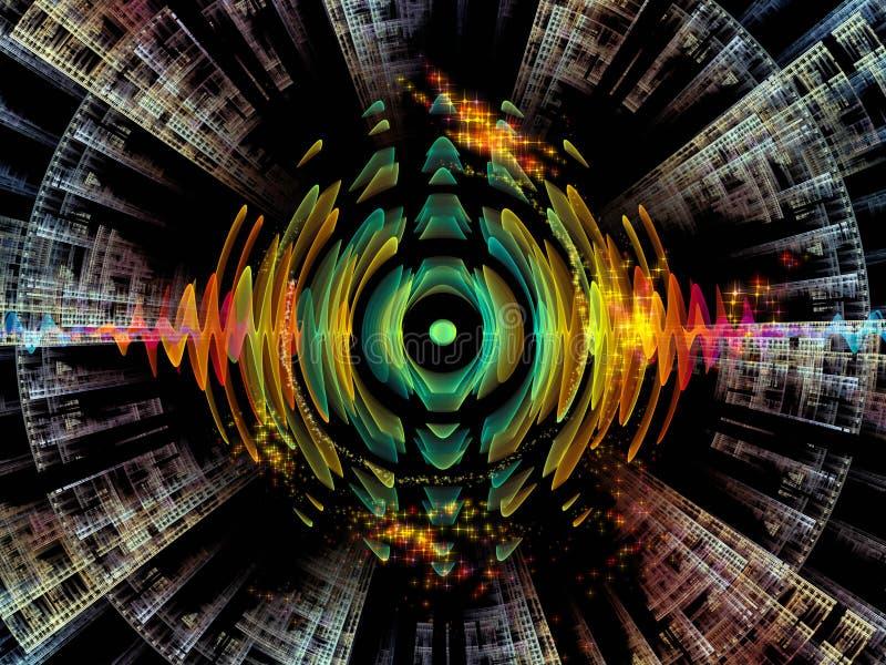 Области радиального колебания иллюстрация штока