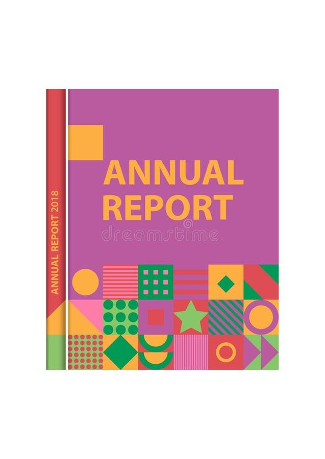 Обложка книги, каталог, журнал, шаблон для дизайна и план бесплатная иллюстрация