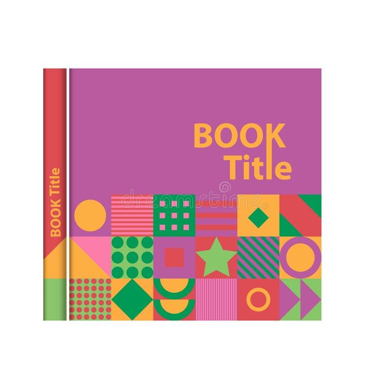 Обложка книги, каталог, журнал, шаблон для дизайна и план иллюстрация вектора