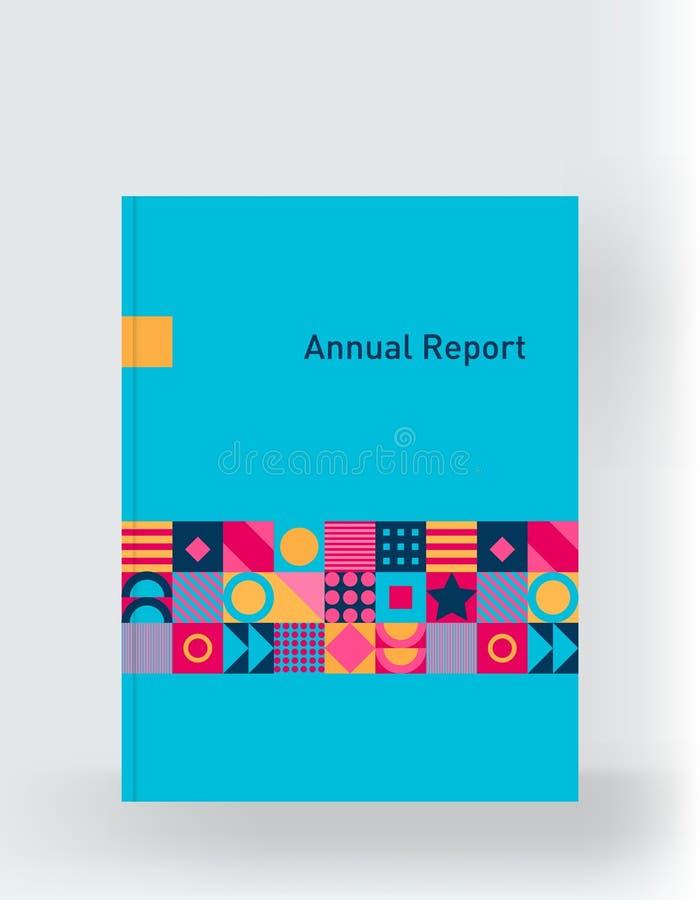Обложка книги, каталог, журнал, шаблон для дизайна и план иллюстрация штока