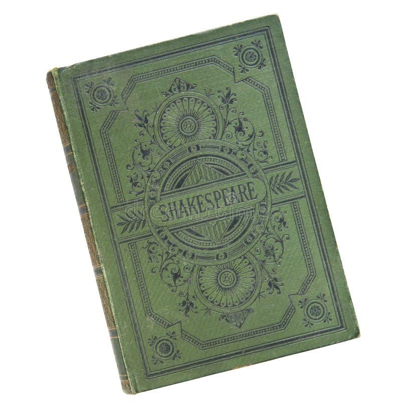 Обложка книги старой книги винтажная изолированная на белой предпосылке  стоковая фотография