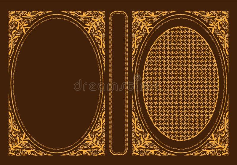 Обложки книги классики вектора Декоративные винтажные крышка или рамка для книг Оно нарисовано нормальным размером Вы можете изме стоковые фото