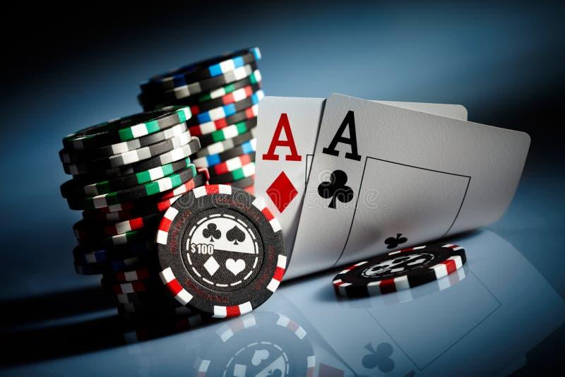 обломоки играя в азартные игры стоковые изображения