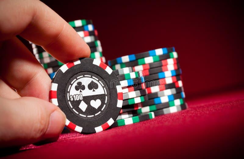 обломоки играя в азартные игры стоковые изображения rf
