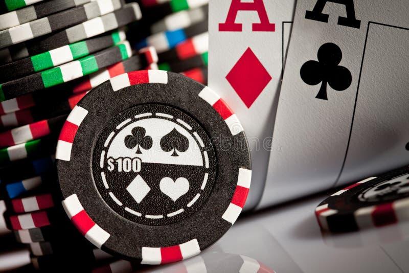 обломоки карточек играя в азартные игры стоковое изображение rf