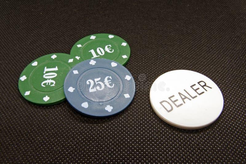 Обломоки покера Обломоки казино Обломоки азартной игры Знаки внимания казино стоковые изображения rf