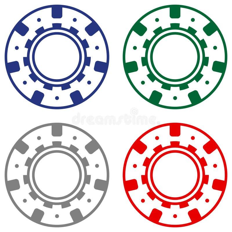Обломок покера казино набора потехи иллюстрация штока